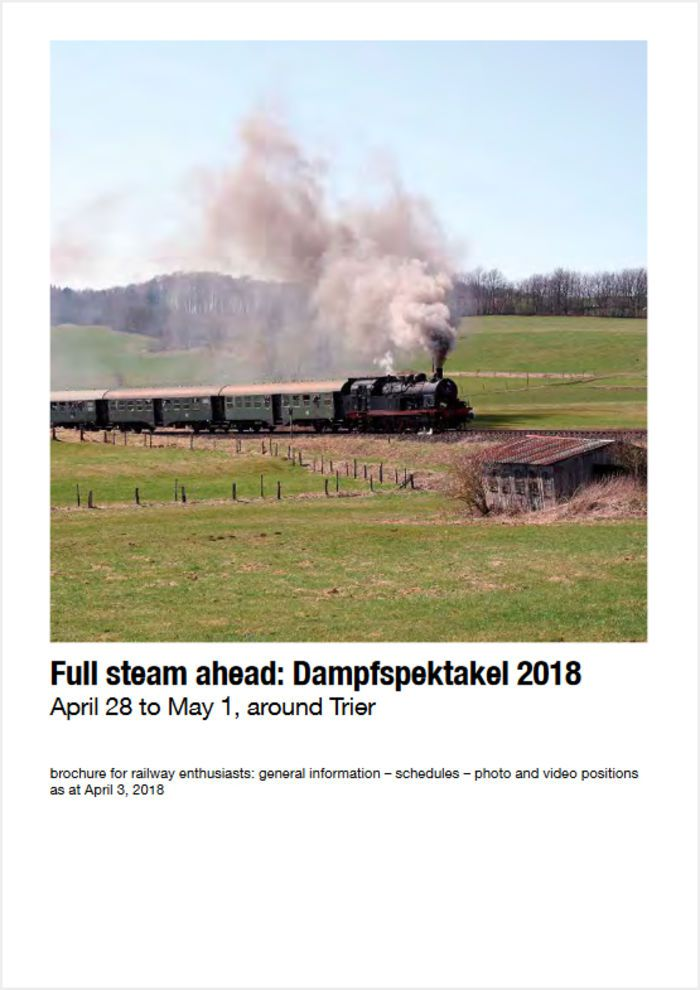 Dampfspektakel 2018 program booklet